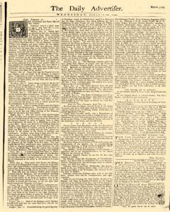 Daily Advertiser, January 19, 1743, Page 1