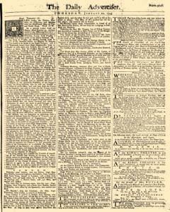 Daily Advertiser, January 20, 1743, Page 1