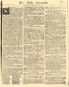 Daily Advertiser, January 21, 1743, Page 1