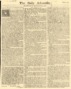 Daily Advertiser, January 24, 1743, Page 1