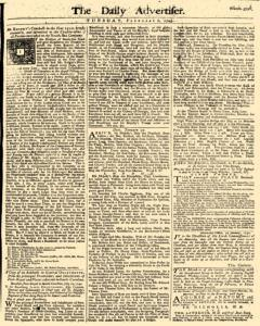 Daily Advertiser, February 01, 1743, Page 1