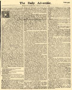 Daily Advertiser, February 02, 1743, Page 1