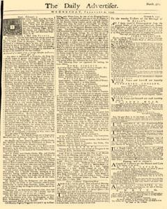 Daily Advertiser, February 09, 1743, Page 1