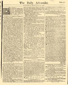 Daily Advertiser, February 11, 1743, Page 1