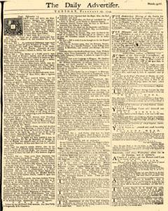 Daily Advertiser, February 15, 1743, Page 1