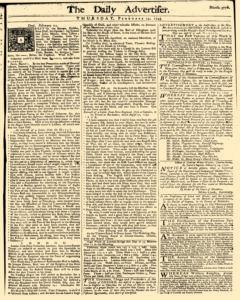 Daily Advertiser, February 24, 1743, Page 1
