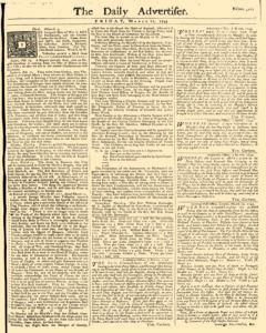 Daily Advertiser, March 11, 1743, Page 1