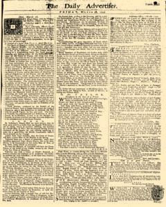 Daily Advertiser, March 18, 1743, Page 1