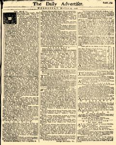Daily Advertiser, March 23, 1743, Page 1
