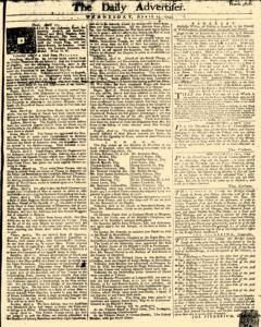 Daily Advertiser, April 13, 1743, Page 1