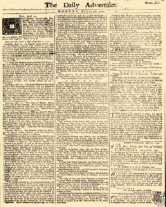Daily Advertiser, April 25, 1743, Page 1