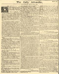 Daily Advertiser, April 29, 1743, Page 1