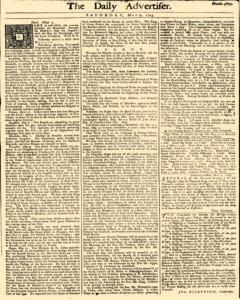 Daily Advertiser, May 07, 1743, Page 1