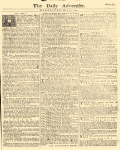 Daily Advertiser, May 11, 1743, Page 1