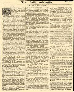 Daily Advertiser, May 13, 1743, Page 1