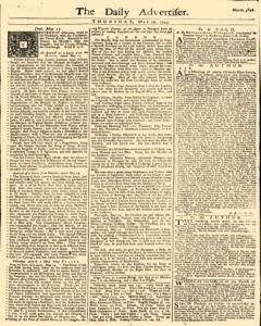 Daily Advertiser, May 19, 1743, Page 1