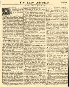Daily Advertiser, May 25, 1743, Page 1
