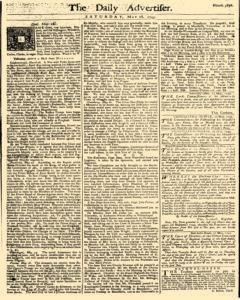Daily Advertiser, May 28, 1743, Page 1