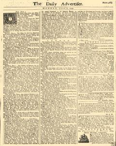 Daily Advertiser, June 06, 1743, Page 1