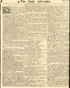 Daily Advertiser, June 23, 1743, Page 1