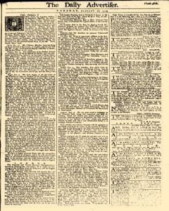 Daily Advertiser, January 10, 1749, Page 1
