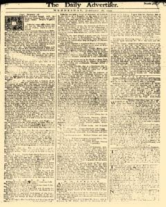 Daily Advertiser, January 18, 1749, Page 1
