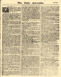 Daily Advertiser, January 23, 1749, Page 1