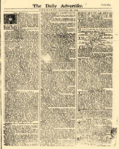 Daily Advertiser, January 26, 1749, Page 1