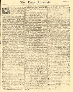 Daily Advertiser, February 01, 1749, Page 1
