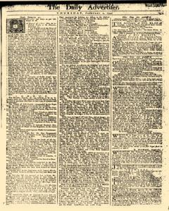 Daily Advertiser, February 02, 1749, Page 1
