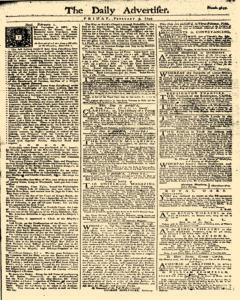 Daily Advertiser, February 03, 1749, Page 1