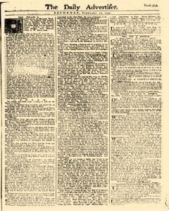 Daily Advertiser, February 11, 1749, Page 1