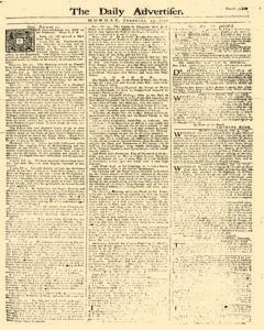 Daily Advertiser, February 13, 1749, Page 1