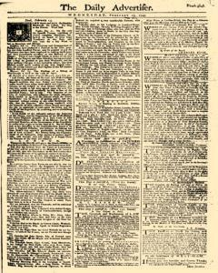 Daily Advertiser, February 15, 1749, Page 1