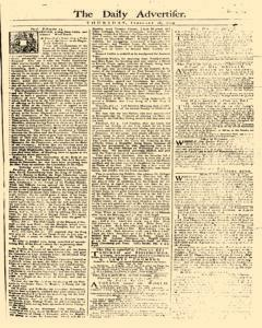 Daily Advertiser, February 16, 1749, Page 1
