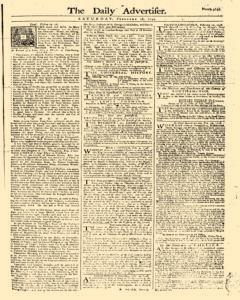 Daily Advertiser, February 18, 1749, Page 1