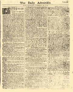 Daily Advertiser, February 23, 1749, Page 1