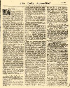 Daily Advertiser, February 28, 1749, Page 1