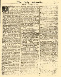 Daily Advertiser, March 03, 1749, Page 1