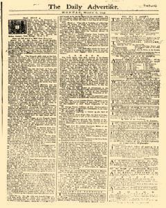 Daily Advertiser, March 06, 1749, Page 1