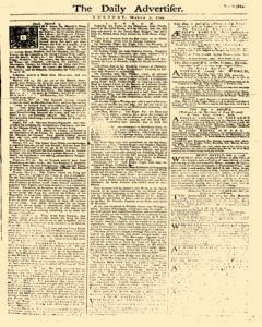 Daily Advertiser, March 07, 1749, Page 1
