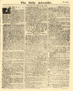 Daily Advertiser, March 20, 1749, Page 1