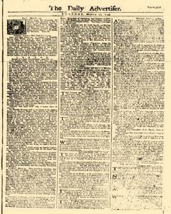 Daily Advertiser, March 21, 1749, Page 1