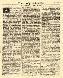 Daily Advertiser, March 22, 1749, Page 1
