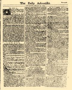 Daily Advertiser, March 24, 1749, Page 1