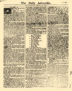Daily Advertiser, March 25, 1749, Page 1