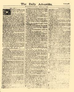 Daily Advertiser, April 05, 1749, Page 1