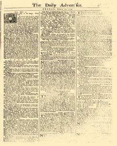 Daily Advertiser, April 14, 1749, Page 1