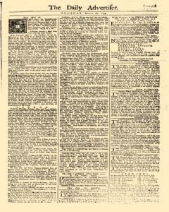 Daily Advertiser, April 18, 1749, Page 1