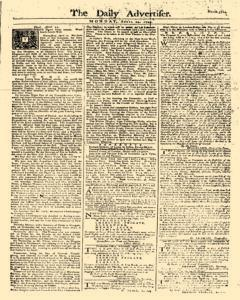 Daily Advertiser, April 24, 1749, Page 1